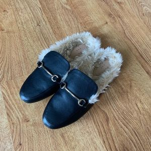 a new day Shoes - A New Day Faux Fur Mules